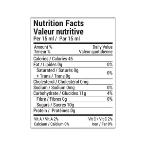 Rootham Honey Bourbon Vanilla Peach Jam Nutritional Info