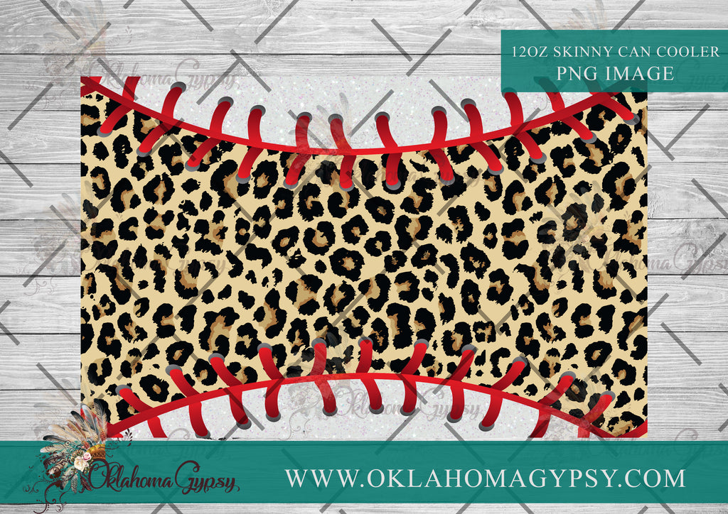 Leopard Baseball Blank Digital File Wraps
