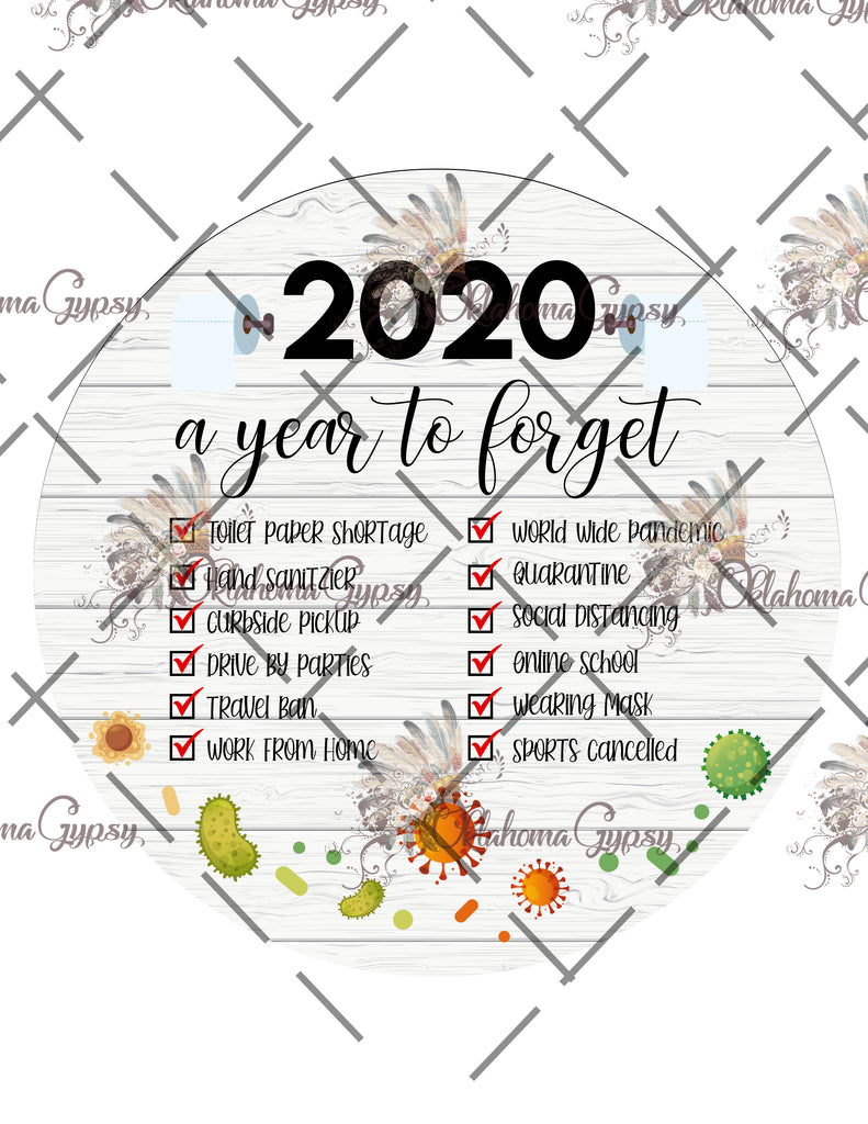 2020 A Year To Forget Ornament Digital File