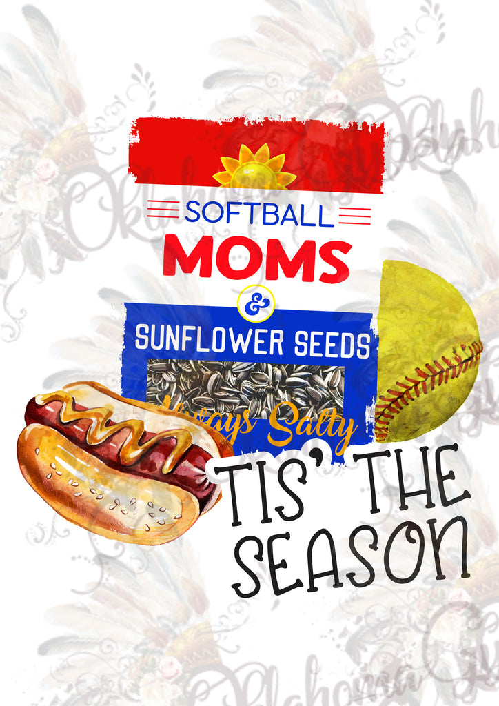Tis' The Season ~ Always Salty Softball Mom Digital File