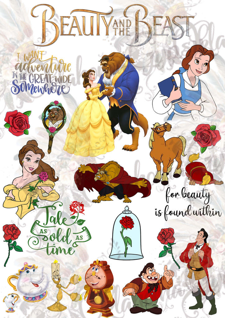Beauty And The Beast Inspired Digital File
