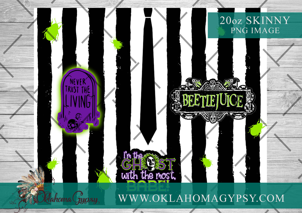 20oz Skinny Straight Beetlejuice Digital File