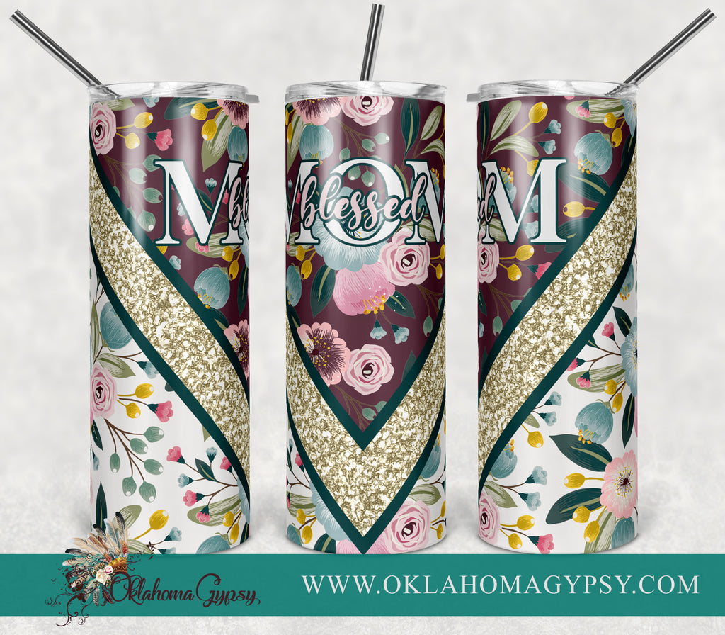 Blessed Mom Floral Digital File Wraps