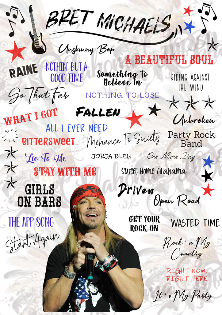 Bret Michaels Inspired Top Hits Digital File