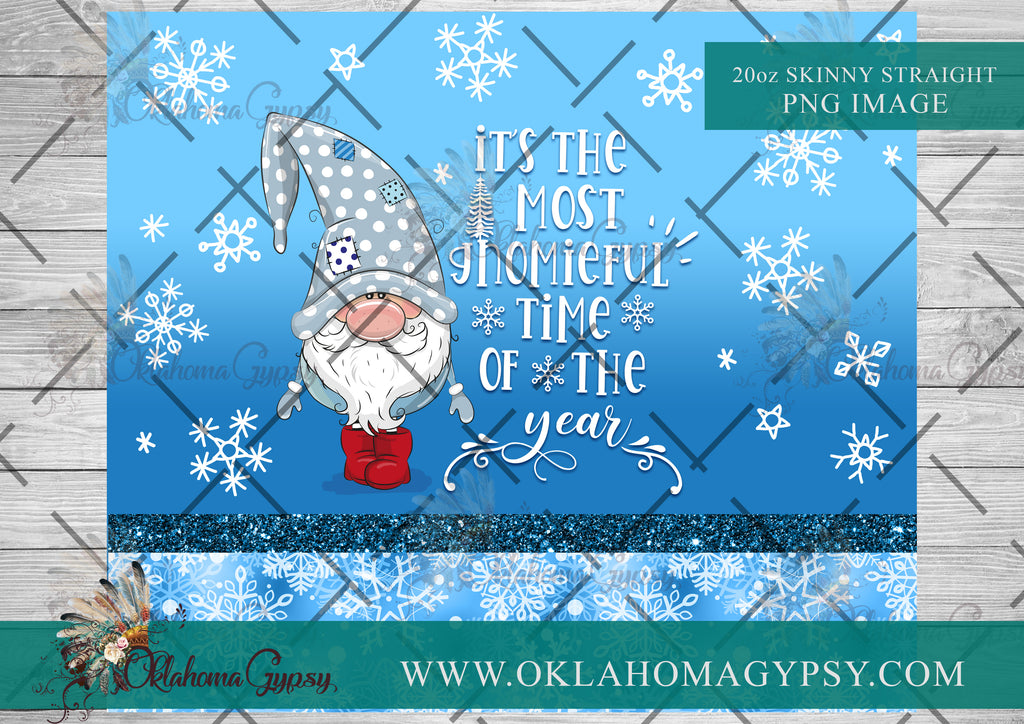 20oz Skinny Straight Christmas Gnome Digital File