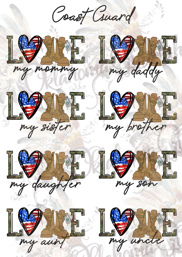 Coast Guard LOVE Sheet Digital File