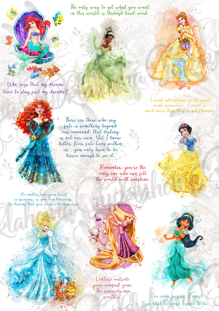 Disney Princess Quotes Inspired Digital File