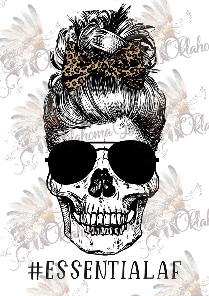 Skeleton Essential AF Leopard Bow Digital File
