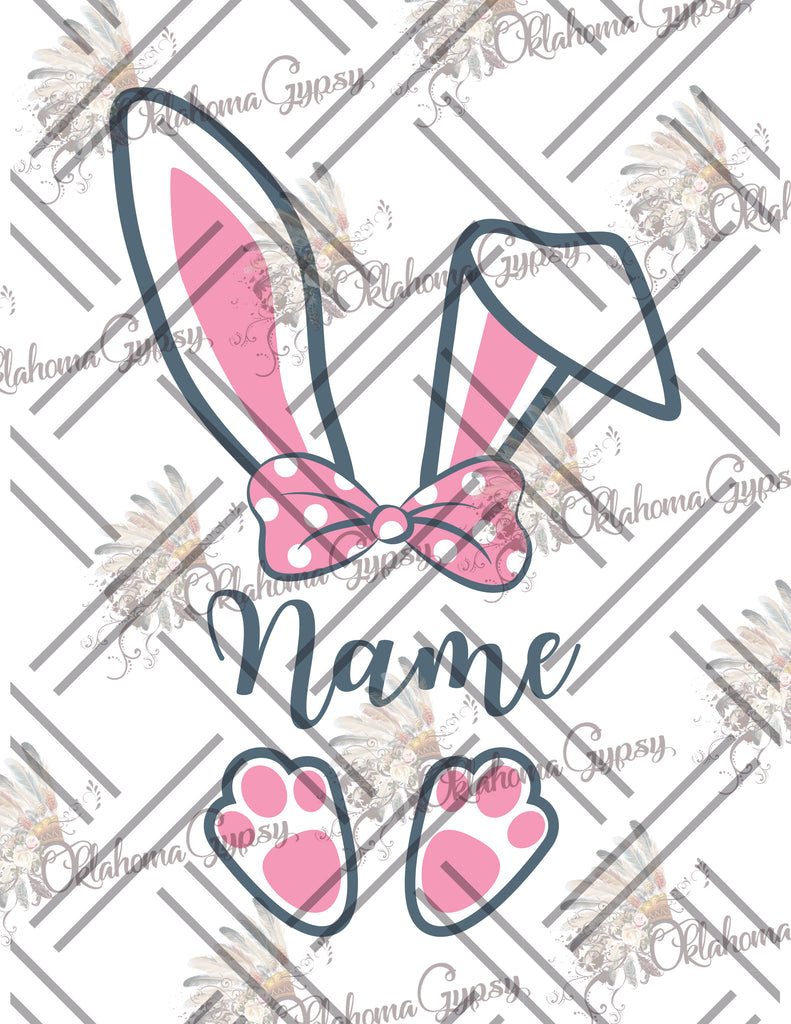 Boy & Girl Easter Bunny - Custom Name Digital File