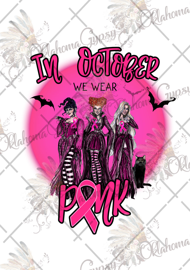 Hocus Pocus Breast Cancer Inspired Digital File
