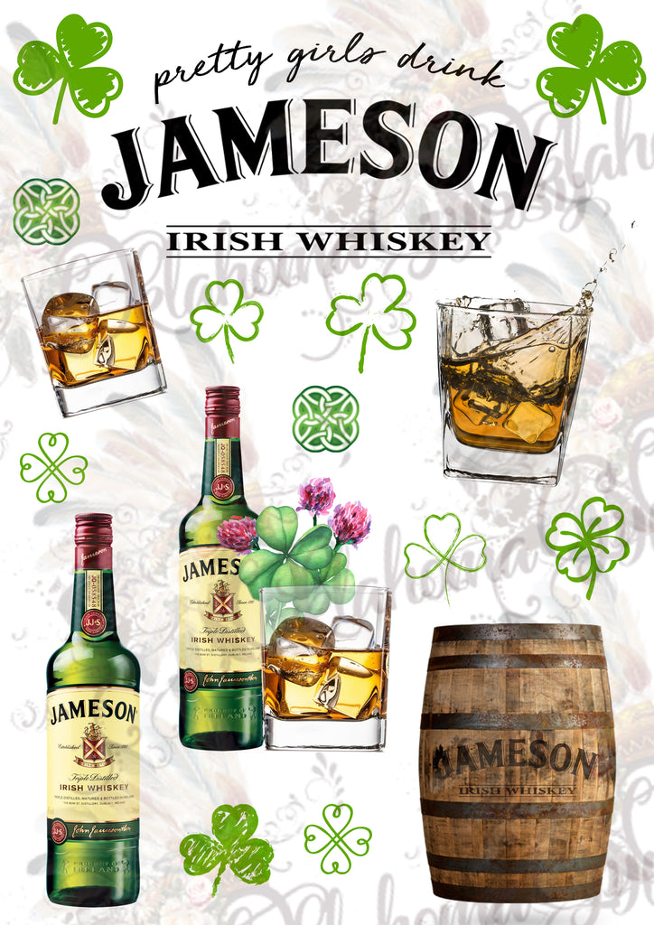 Jameson Whiskey Inspired Digital File