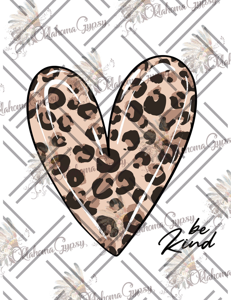 Be Kind Leopard Heart Digital File