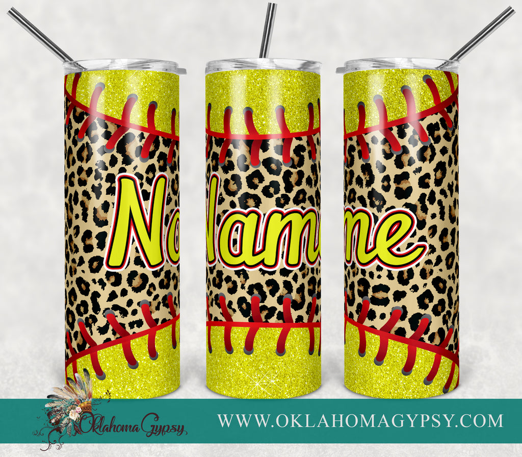 Leopard Softball Blank Digital File Wraps