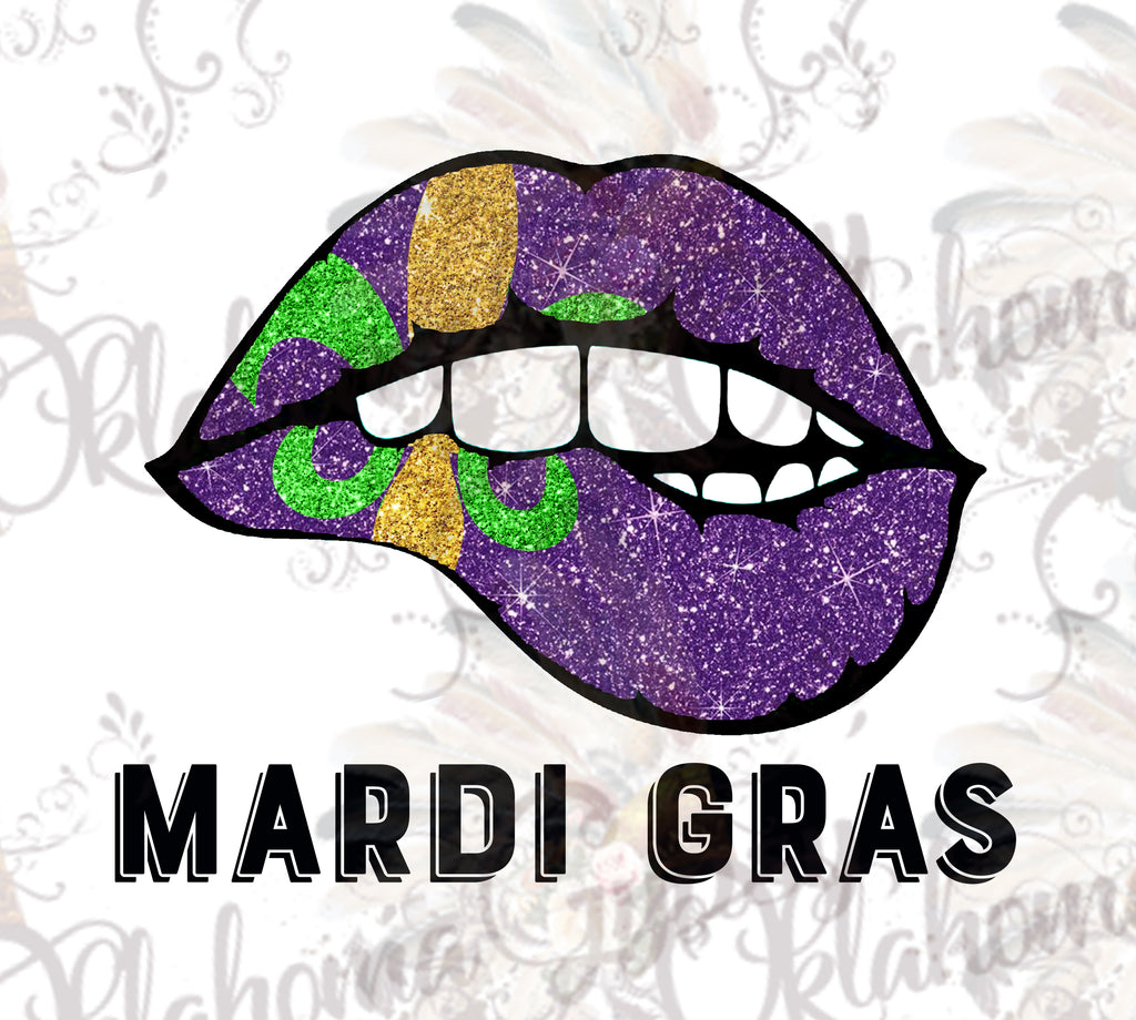 Mardi Gras Lips Digital File