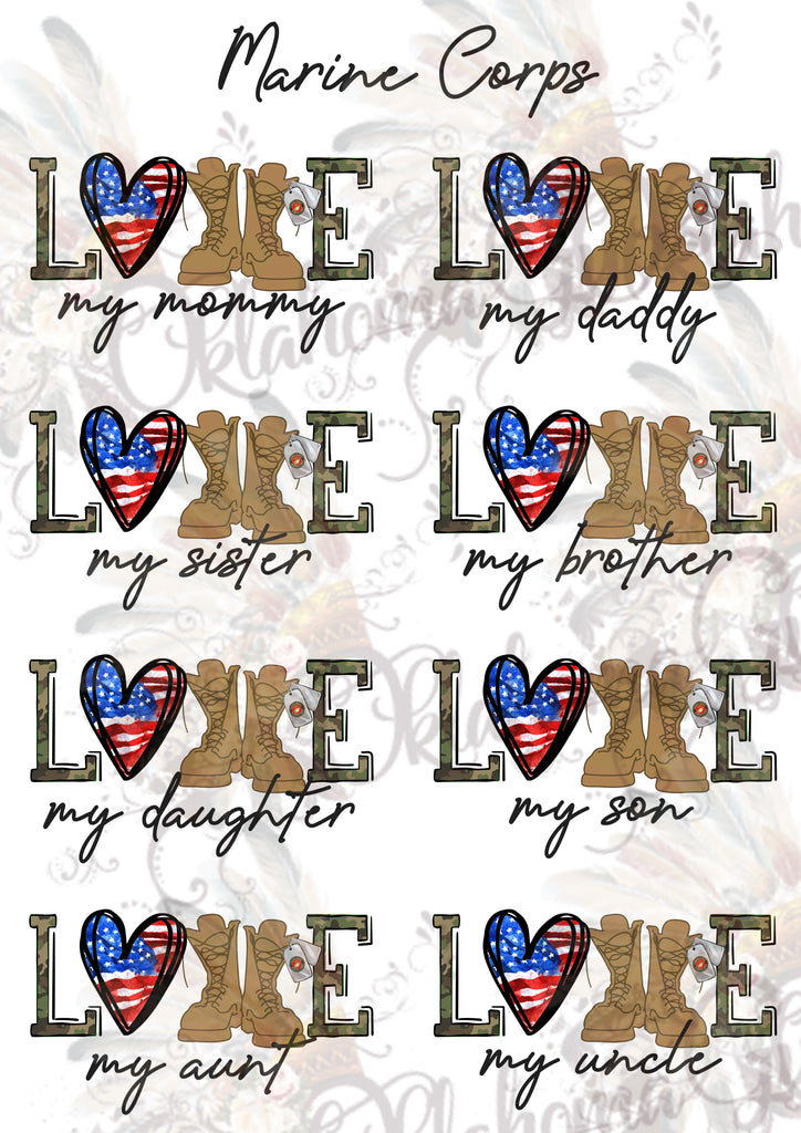 Marine Corps LOVE Sheet Digital File