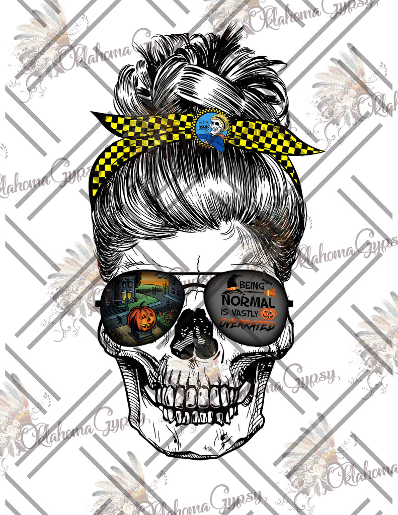 Messy Bun Halloweentown Skull Digital File