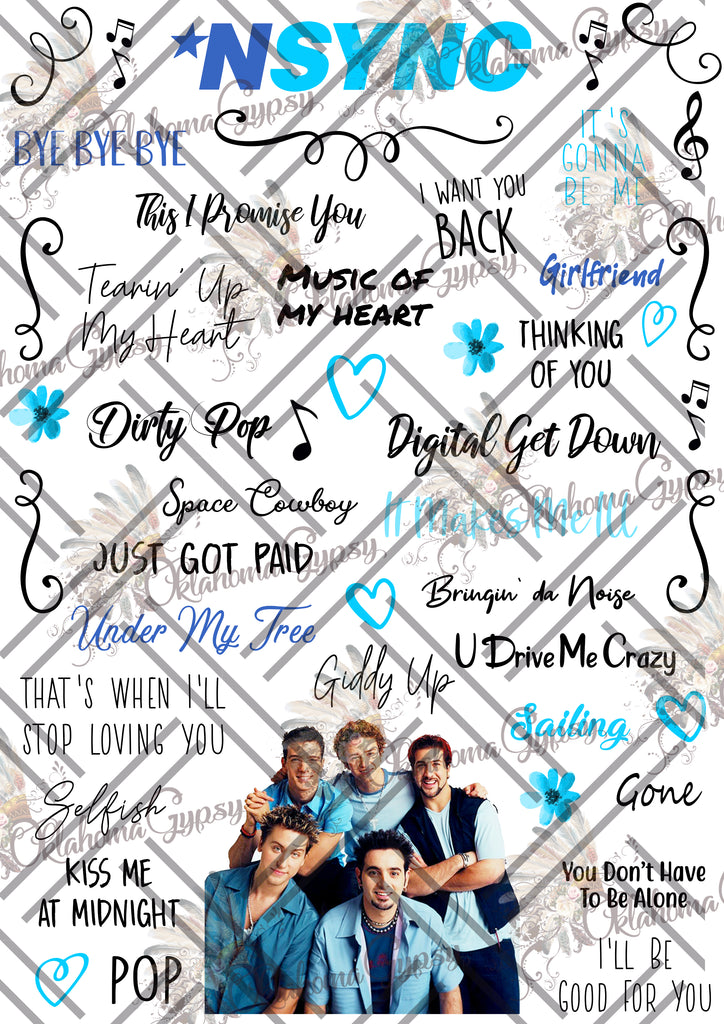 NSYNC Inspired Top Hits Digital File
