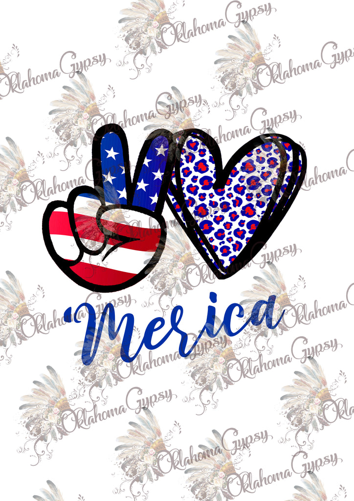 Peace Love 'Merica Digital File