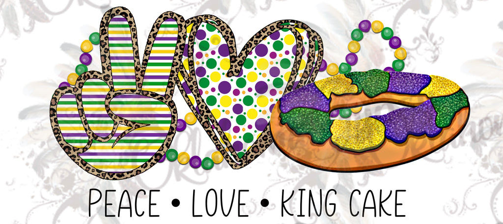 Peace Love King Cake Gnomes Digital File