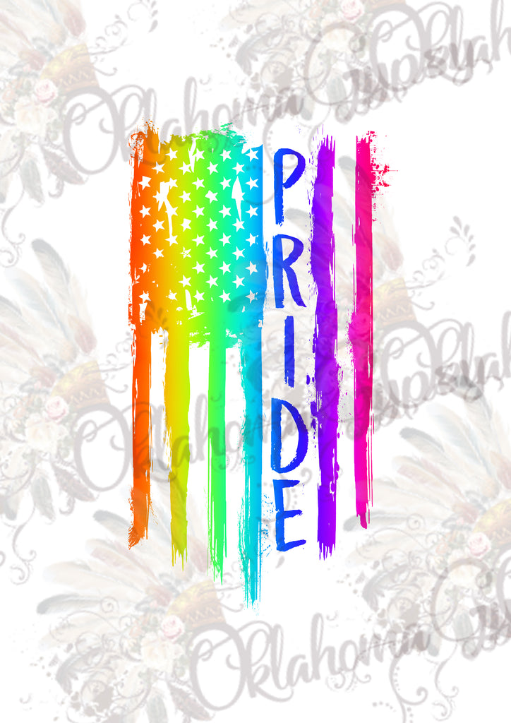 Gay Pride Rainbow Flag Digital File