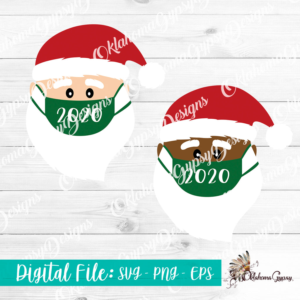 2020 Santa Facemask Digital File