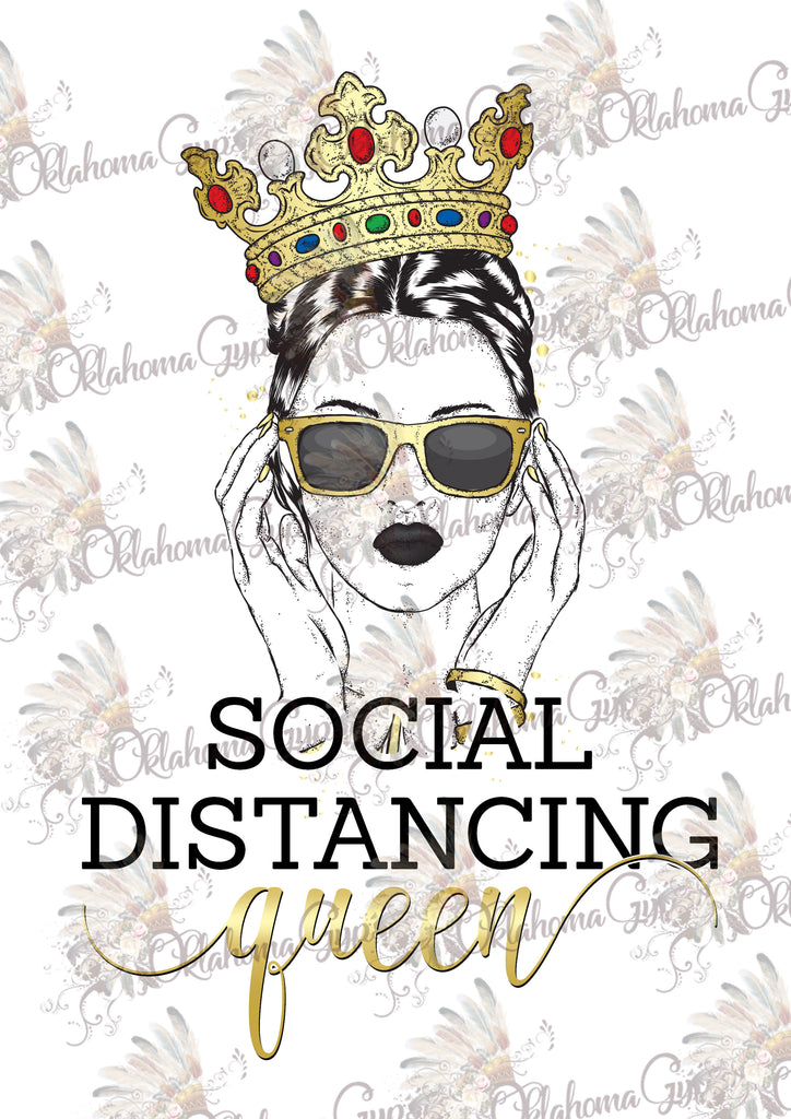 Social Distancing Queen Digital File