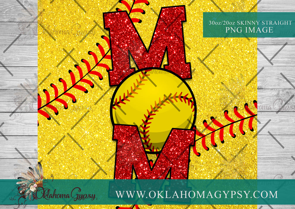 Softball Mom Digital File Wraps