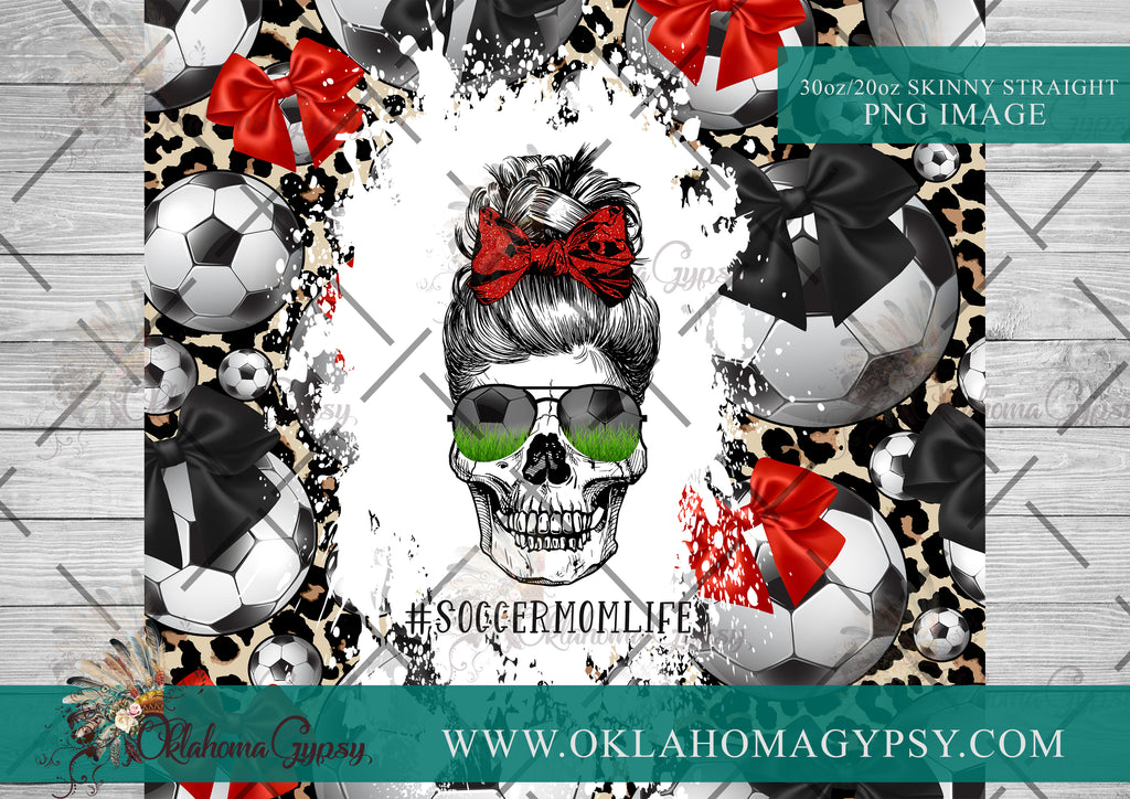Leopard Soccer Mom Skeleton Digital File Wraps
