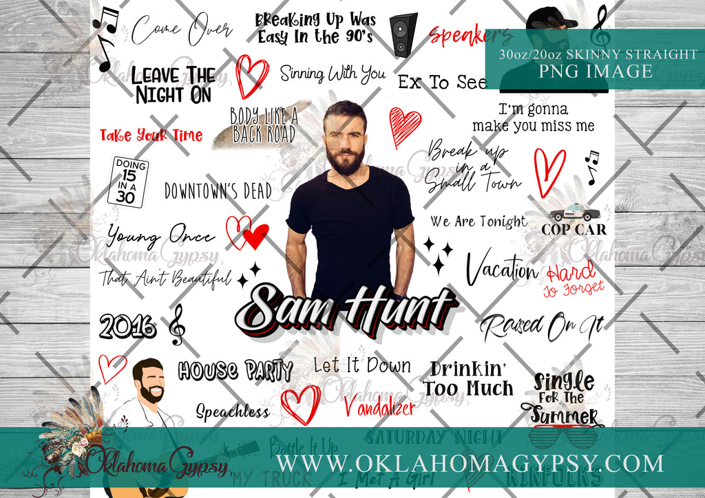 Sam Hunt Inspired Top Hits Digital File