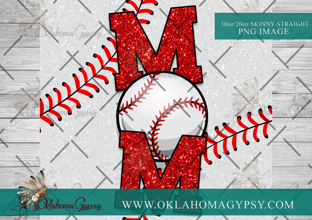 Baseball Mom Digital File Wraps