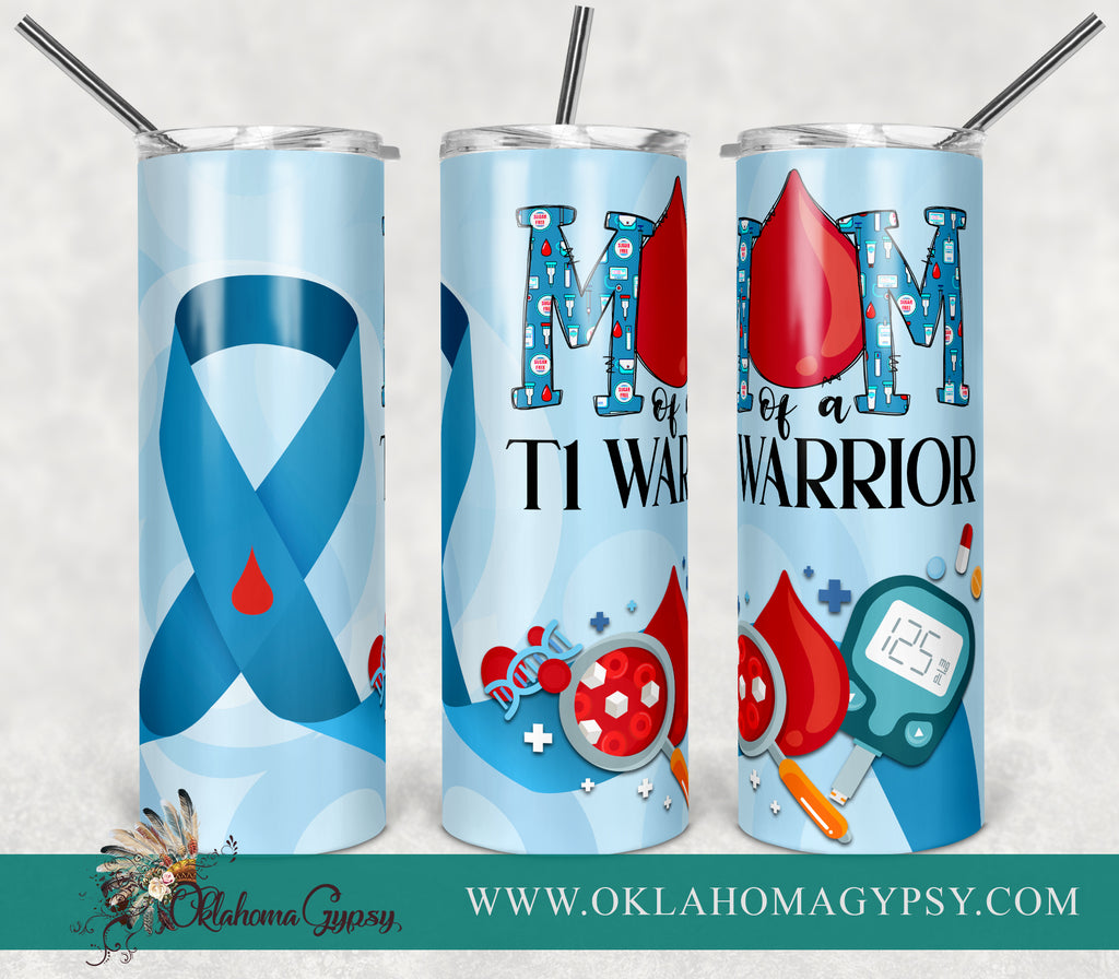 Diabetes Mom of a T1 Warrior Digital File Wraps