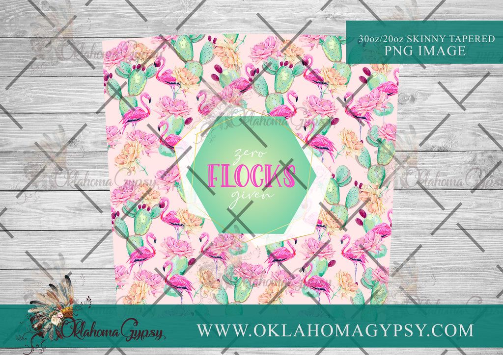 Zero Flocks Given Flamingo Digital File Wraps