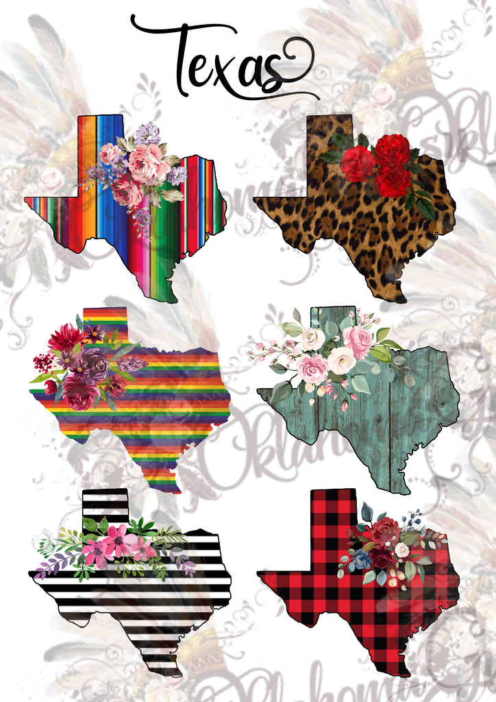 Texas State Shape ~ Digital File
