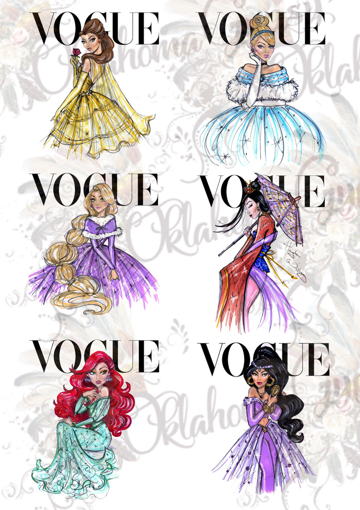Vogue Princesses Inspired Digital File