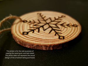 Snowflake Wood Ornament #5