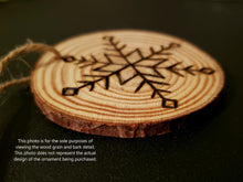 Load image into Gallery viewer, Snowman Love Wood Ornament