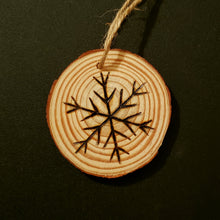 Load image into Gallery viewer, Snowflake Wood Ornament #1
