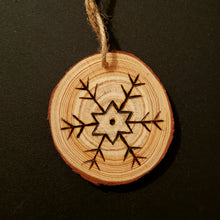 Load image into Gallery viewer, Snowflake Wood Ornament #3