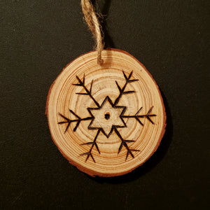 Snowflake Wood Ornament #3