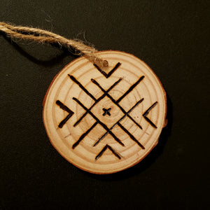 Snowflake Wood Ornament #4