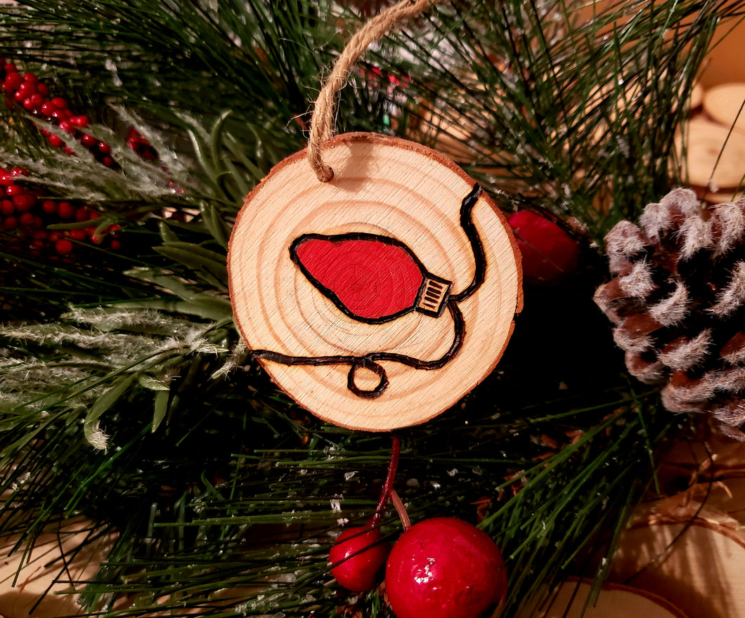 Christmas Light Wood Ornament