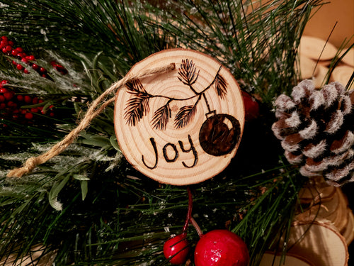Joy Wood Ornament