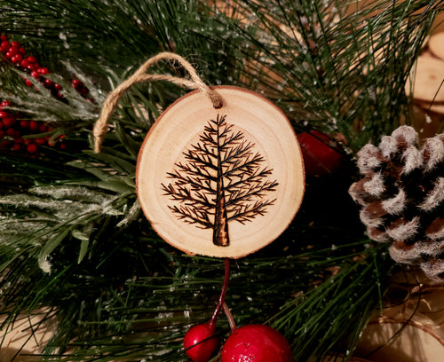 Tree Wood Ornament