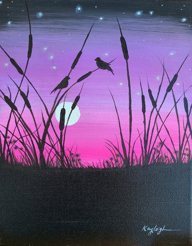 Cattail Sunset Paint Kit