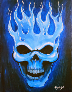 Blue Skull Paint Kit
