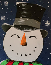 Load image into Gallery viewer, Happy Snowman Paint Kit