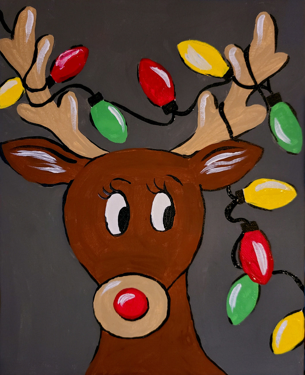 Mischevious Reindeer Paint Kit