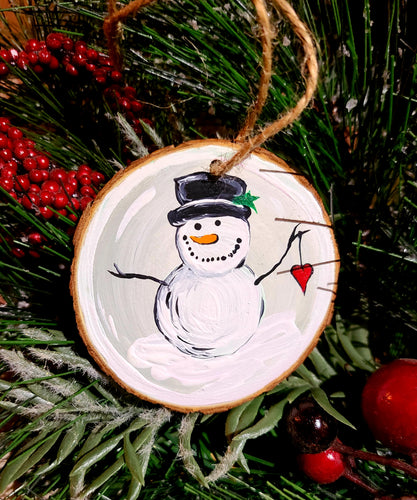 Snowman Love Ornament Paint Kit