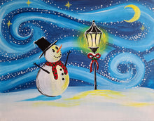 Load image into Gallery viewer, Snowmans Winter Night Paint Kit