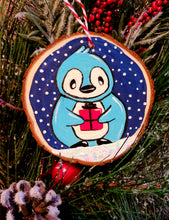 Load image into Gallery viewer, Blue Penguin Ornament Paint Kit